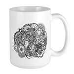 Pen and Ink Detailed Line Dra Large Mug