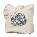 Pen and Ink Detailed Line Dra Tote Bag