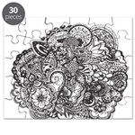 Pen and Ink Detailed Line Dra Puzzle