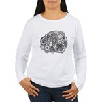 Pen and Ink Detailed Line Dra Women's Long Sleeve
