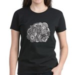 Pen and Ink Detailed Line Dra Women's Dark T-Shirt