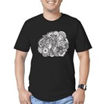 Pen and Ink Detailed Line Dra Men's Fitted T-Shirt
