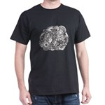 Pen and Ink Detailed Line Dra Dark T-Shirt
