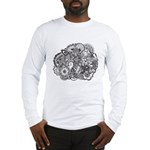 Pen and Ink Detailed Line Dra Long Sleeve T-Shirt