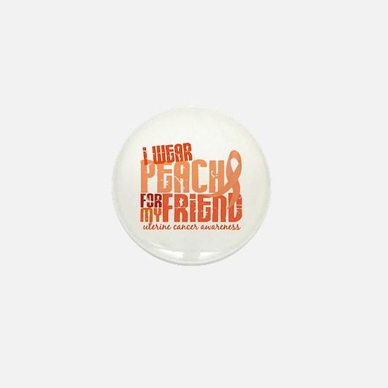 I Wear Peach 6.4 Uterine Cancer Mini Button