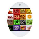 Rainbow Foods Ornament (Oval)
