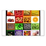Rainbow Foods Sticker (Rectangle 50 pk)