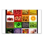 Rainbow Foods Sticker (Rectangle 10 pk)