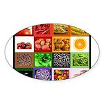 Rainbow Foods Sticker (Oval 10 pk)