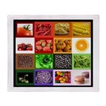 Rainbow Foods Throw Blanket