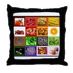 Rainbow Foods Throw Pillow