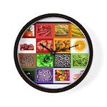Rainbow Foods Wall Clock