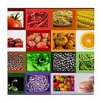 Rainbow Foods Tile Coaster