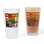 Rainbow Foods Drinking Glass