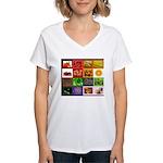 Rainbow Foods Women's V-Neck T-Shirt