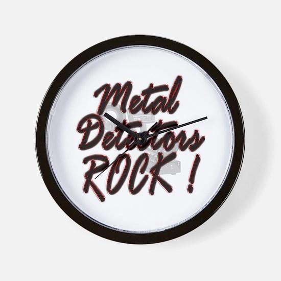 Metal Detectors Rock ! Wall Clock