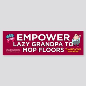 Empower Lazy GrandPA (Bumper Sticker)