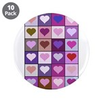 Pink and Purple Heart Squares 3.5