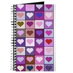 Pink and Purple Heart Squares Journal