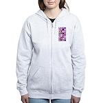 Pink and Purple Heart Squares Women's Zip Hoodie