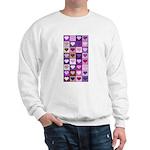 Pink and Purple Heart Squares Sweatshirt
