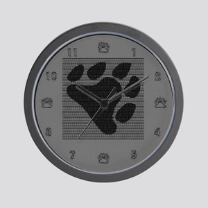 BLACK BEAR PAW Wall Clock