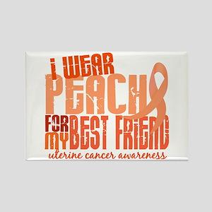 I Wear Peach 6.4 Uterine Cancer Rectangle Magnet