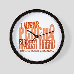 I Wear Peach 6.4 Uterine Cancer Wall Clock