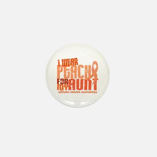 I Wear Peach 6.4 Uterine Cancer Mini Button