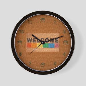RAINBOW WEICOME MAT 2 Wall Clock