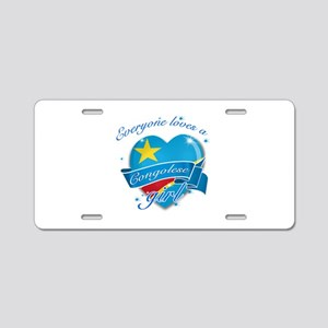 I heart Congolese Designs Aluminum License Plate