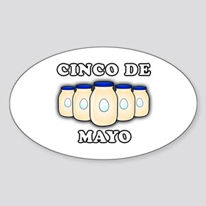 Cinco de Mayo Sticker (Oval)
