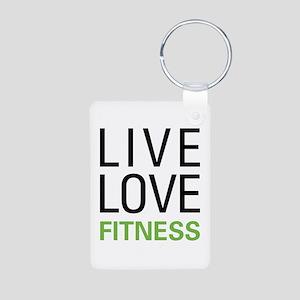 Live Love Fitness Aluminum Photo Keychain