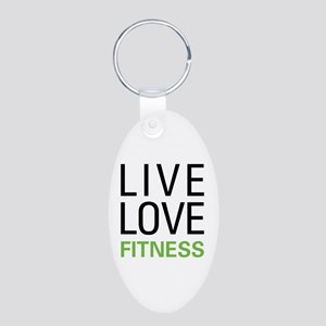 Live Love Fitness Aluminum Oval Keychain