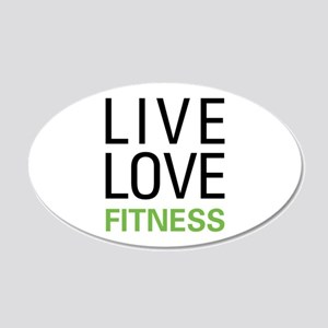 Live Love Fitness 20x12 Oval Wall Decal