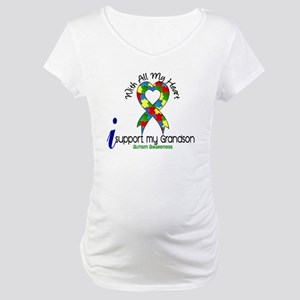 With All My Heart Autism Maternity T-Shirt