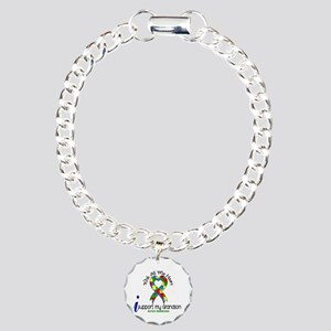 With All My Heart Autism Charm Bracelet, One Charm
