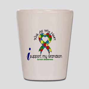 With All My Heart Autism Shot Glass