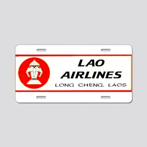 Lao Airlines Aluminum License Plate