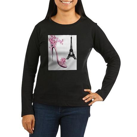 So French So Chic Women's Long Sleeve Dark T-Shirt