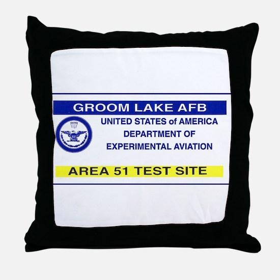 Area 51 Pass Throw Pillow
