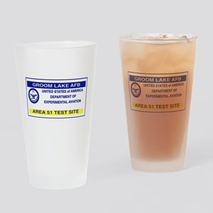 Area 51 Pass Drinking Glass
