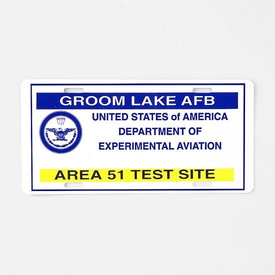 Area 51 Pass Aluminum License Plate