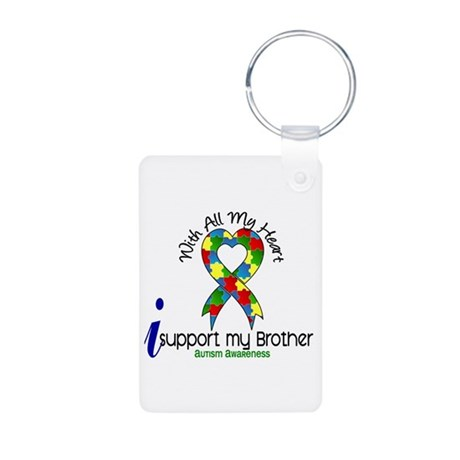 With All My Heart Autism Aluminum Photo Keychain