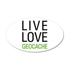 Live Love Geocache Wall Decal