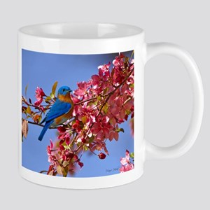Bluebird in Blossoms Mug