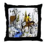 Native American Warrior Throw Pillow