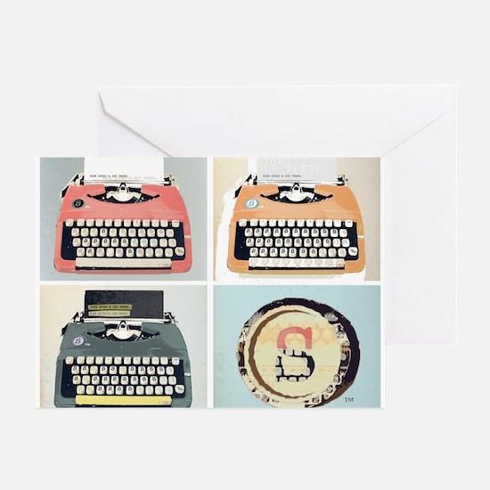 Unique Typewriter Greeting Cards (Pk of 10)