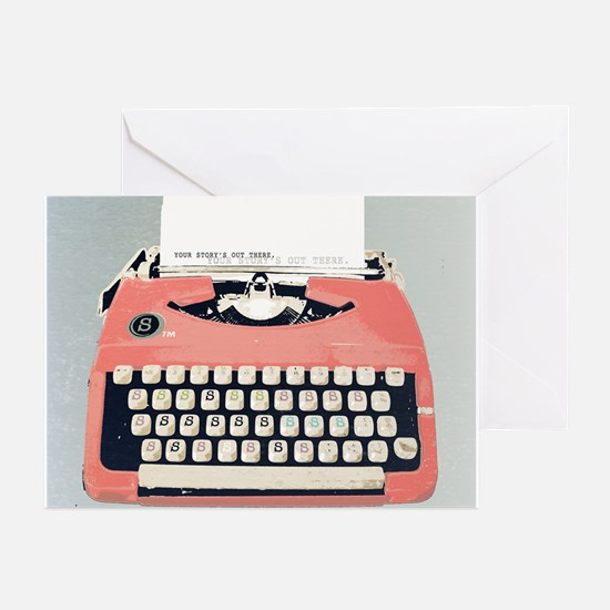 Cute Typewriter Greeting Cards (Pk of 10)