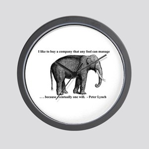 A Wise Elephant (wall clock)